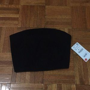 Zara Backless Tube Crop Top
